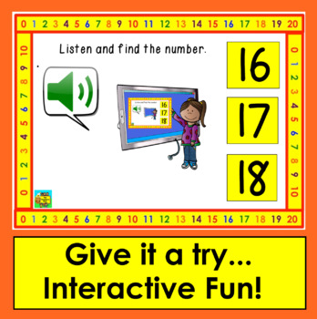 Boom Cards™ Number Recognition to 20 - Interactive Self-Chcking Digital Cards