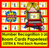 Boom Cards Number Recognition to 20 Self-Chcking Digital Cards Distance Learning