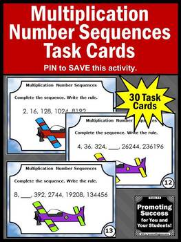 Number Sequences, 4th Grade Multiplication Activities, Number Sequencing Games
