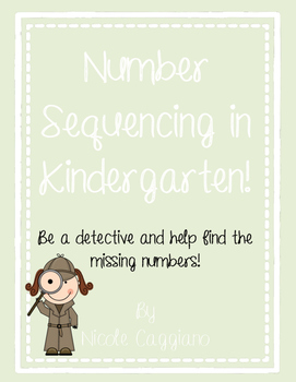 Number Sequencing - Detective Game - Find the missing numb