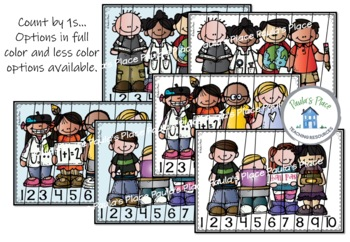 Number Sequences Puzzles - Back to School Theme