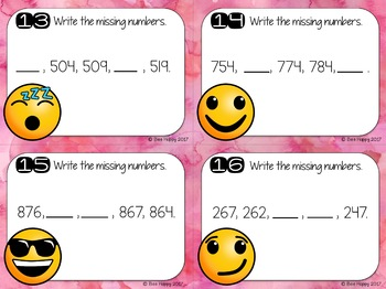 Number Sequences Task Cards Australian Curriculum Year 2