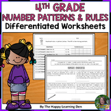 4th Grade Number Patterns and Rules