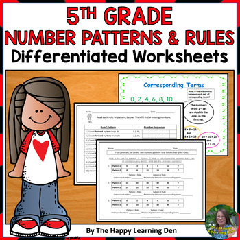 Number Patterns  and Rules for 5th Grade