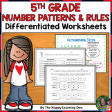 5th Grade Number Patterns and Rules