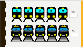 Train Number Sequences counting forwards and backwards 0-100 editable