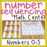 Number Sequencing 0-5 Back to School Kindergarten Math Center