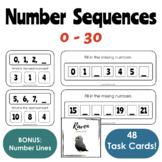 Number Sequencing 0-30 (Task Cards   Number Lines)