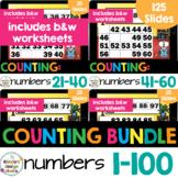 Number Sequencing 1-100 Fill in Number Chart Math Worksheets & Google Slides