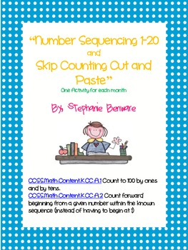 Number Sequencing 1-20 and Skip Counting Cut and Paste