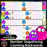 Number Sequencing - Counting Backwards