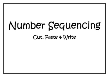 Number Sequencing Cut, Paste, Write 1-10