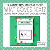 Number Sequencing Digital Task Cards for Distance Learning