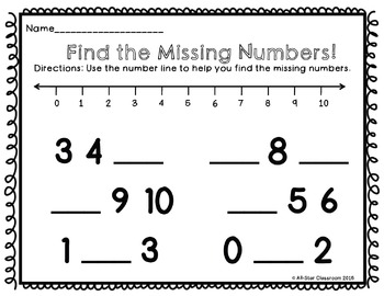 Number Sequencing Freebie