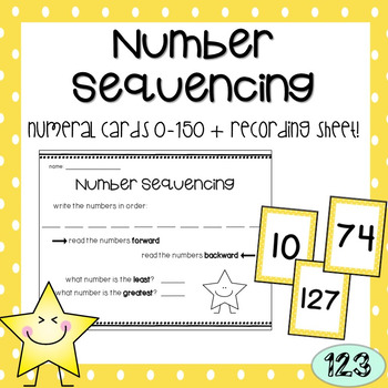 Number Sequencing (0-150) Math Activity