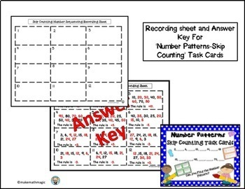 Skip Counting - Number Sequencing Task Cards