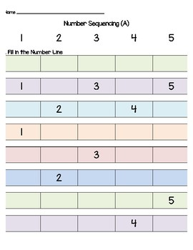 Number Sequencing Packet (1-20)