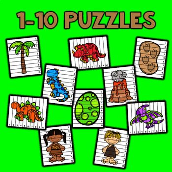 Number Sequencing Puzzles - Dinosaurs
