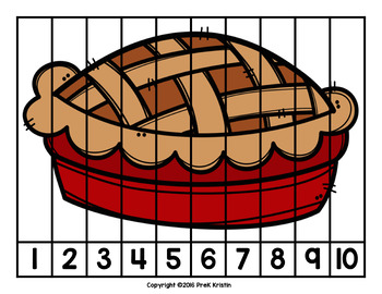 Skip Counting Number Puzzles: Fall/Apples/Pumpkin Theme