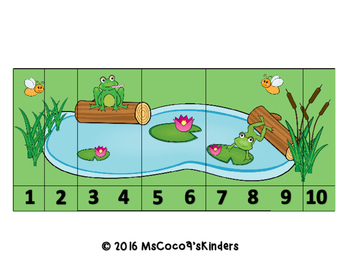 Number Sequencing Puzzles (Frog Friends)