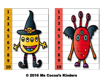Number Sequencing Puzzles (Monsters)