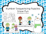Number Sequencing Puzzles -Snow Fun