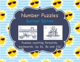 Number Sequencing Puzzles: Summer Edition