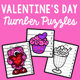 Number Sequencing Puzzles - Valentine's Day