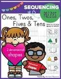 Number Sequencing Puzzles with 2D & 3D Shapes