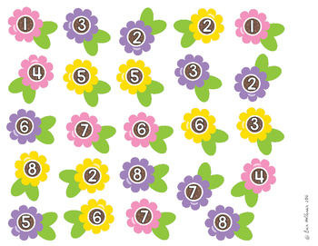Number Sequencing - Spring Gardening