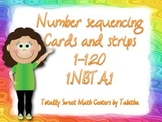 Number Sequencing Strips and Cards Game for 1 or more 1.NBT.1