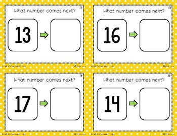 Number Sequencing Task Cards 1-20