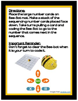 Number Sequencing with Bee-bots (STEM)