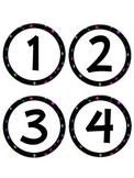 Polka Dot Number Set (1-120)