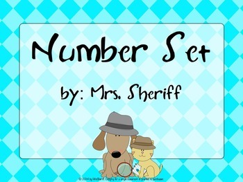 Number Set or Name Tags - Detective Theme {EDITABLE}