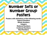 Number Set or Number Group Posters