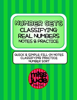 Number Sets: Classifying Real Numbers Notes & Practice ESO