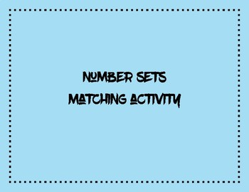 Number Sets Matching Activity