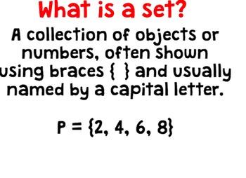Number Sets Smartboard Lesson