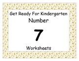 Number Seven Worksheet Pack