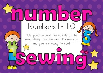 Number Sewing Cards Fine Motor