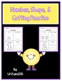 Number, Shape, & Cutting Practice