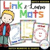 Number & Shape Mats for Links - DUTCH (Playdough Alternative) Link & Learn