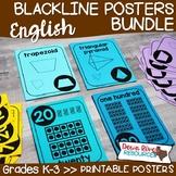 Number & Shape Posters Bundle {ENGLISH} | 2D Shape Posters | 3D Shape Posters