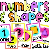 Number & Shapes Posters Numbers 1-20