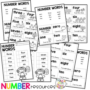 Number Sight Word Cards