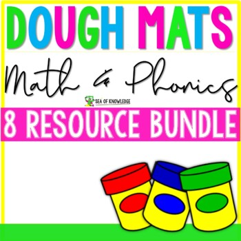 Alphabet, Numbers, Sight Words & Shapes Activity Dough Mats The Bundle