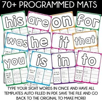 Alphabet, Numbers, Sight Words, Shapes Playdough Mats - The Bundle