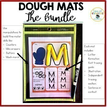 Alphabet, Numbers, Sight Words, Shapes Dough Mats - The Bundle