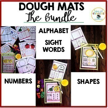 Play Dough Learning Mats: Alphabet, Numbers, Sight Words, Shapes - The Bundle